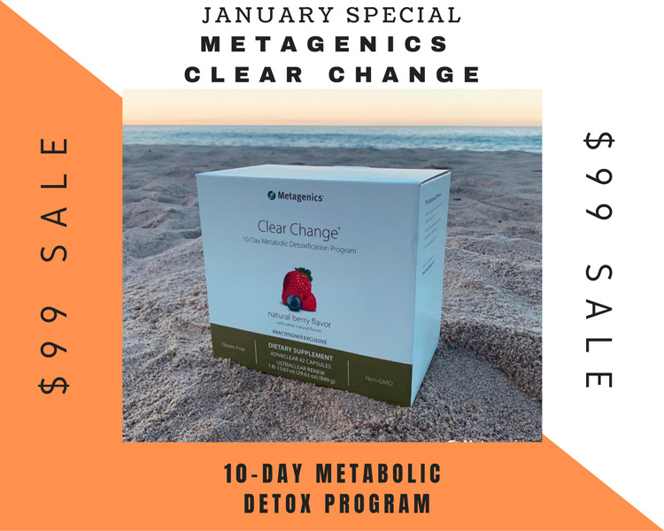 Metagenics Clear Change Special Offer at Strand Spine Institute